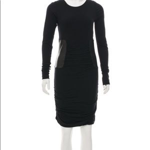 Faith Connexion leather trimmed touched dress.